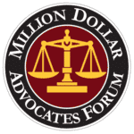 Million Dollar Advocates Award for Personal Injury Lawyer